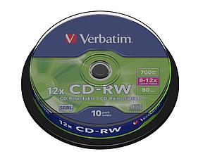 Диски CD-RW Verbatim