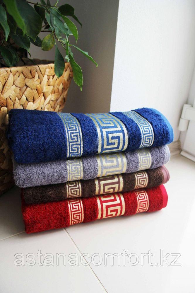 """Банное махровое полотенце """"Versace"""" в подарочной коробке. 140*70 см."""