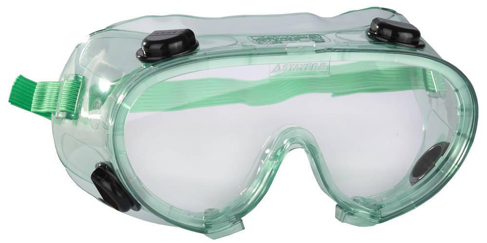 (2-11026) Очки STAYER защитные самосборн закрытого типа с непрямой вентил-ей, поликарб. прозр. линзы