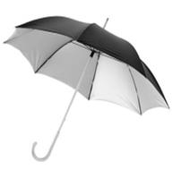 """Зонт с алюминиевой тростью 23"""". Нейлон. Цвет черный/серебро"""