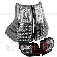 Фонари задние Prado 150 2009-2013+фонарипротивотуманные(дизайн GX460)