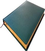 Ежедневник А4, зеленый, с золотым срезом