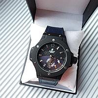 """Часы """"Hublot Geneve"""" с синим ремешком, фото 1"""
