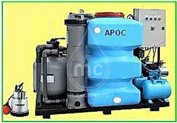 Система очистки воды для автомоек АРОС-1.3 ДКХ (для сильнозагрязненных вод с дозатором хим. реагента)