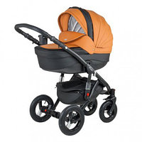 Универсальная детская коляска Adamex Barletta Deluxe (экокожа)  2в1 (31S)