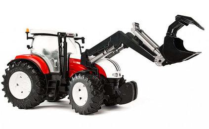 Брудер трактор Bruder Трактор Steyr 6300 Terrus CVT c погрузчиком 03-181