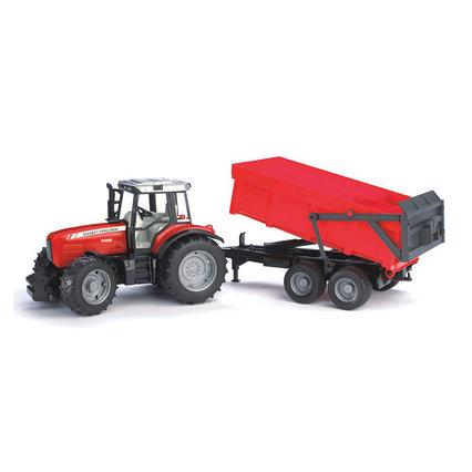 Брудер трактор Bruder Трактор Massey Ferguson 7480 с прицепом 02-045