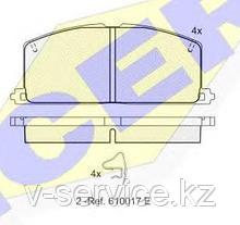 Тормозные колодки ICER 180462(REMSA 167.04)