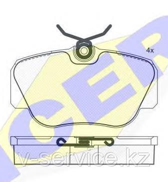 Тормозные колодки ICER 180745(REMSA 284.00)
