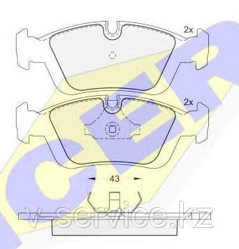 Тормозные колодки ICER 180801(REMSA 384.00)