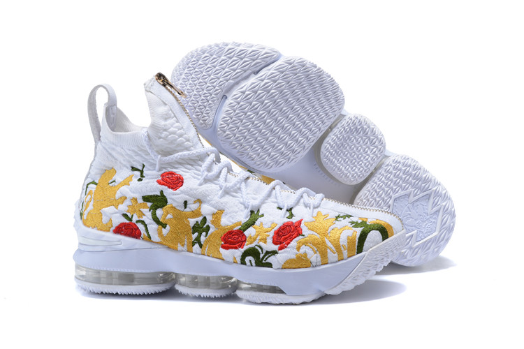 "Баскетбольные кроссовки Nike LeBron XV (15) ""Floral"" Zipper (40-46)"