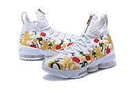 """Баскетбольные кроссовки Nikе LeBron XV (15) """"Floral"""" Zipper (40-46), фото 4"""
