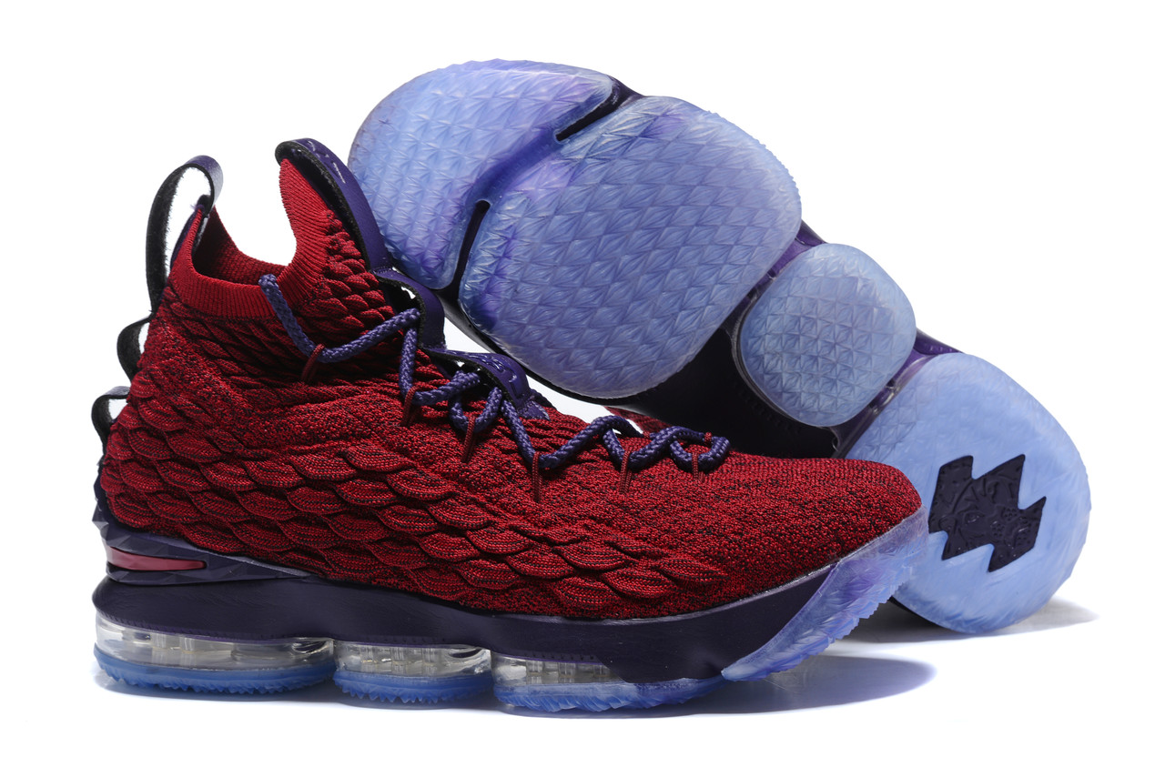 "Баскетбольные кроссовки Nike LeBron XV (15) ""Vine Red/Deep Purple"" (40-46)"