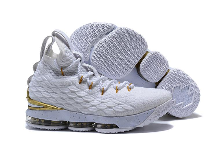 "Баскетбольные кроссовки Nikе LeBron XV (15) ""White/Gold"" (40-46)"