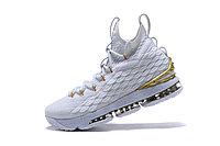 "Баскетбольные кроссовки Nike LeBron XV (15) ""White/Gold"" (40-46), фото 4"