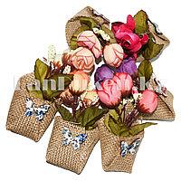 Сувенирный мини магнит букет роз в ассортименте