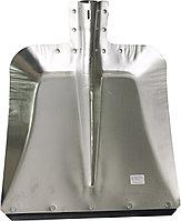Лопата снеговая 320х350мм стальная S=0,8мм с планкой б/ч
