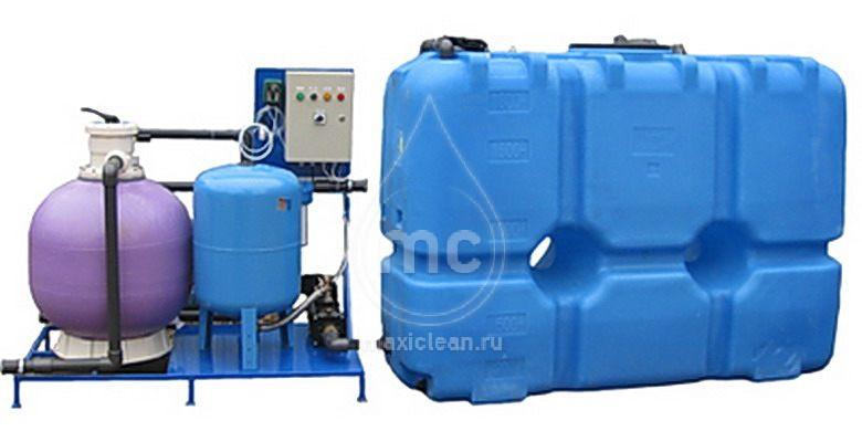 Система очистки воды АРОС-15 ДК (с дозатором хим. реагента и картриджным фильтром)
