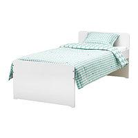 Кровать каркас с реечным дном СЛЭКТ белый ИКЕА, IKEA, фото 1