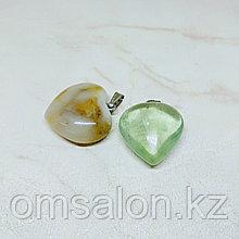Кулон Сердце из натурального камня, 28х27мм