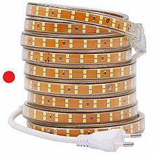 Светодиодная лента SMD 2835 Двойная 220V PREMIUM 156д/м, IP67, Красный