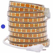 Светодиодная лента SMD 2835 Двойная 220V PREMIUM 156д/м, IP67, Синий
