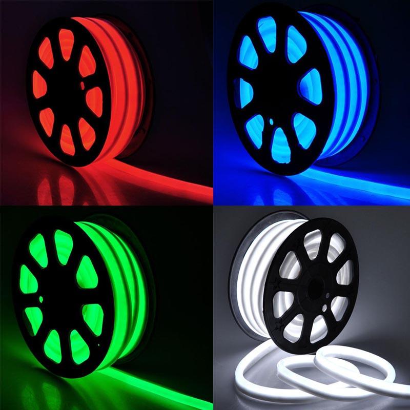 Гибкий неон (FLEX NEON) светодиодный, белый, красный, зеленый, желтый, синий