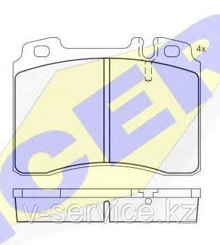 Тормозные колодки ICER 180861(REMSA 379.02)