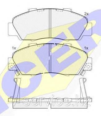 Тормозные колодки ICER 181019(REMSA 351.02)