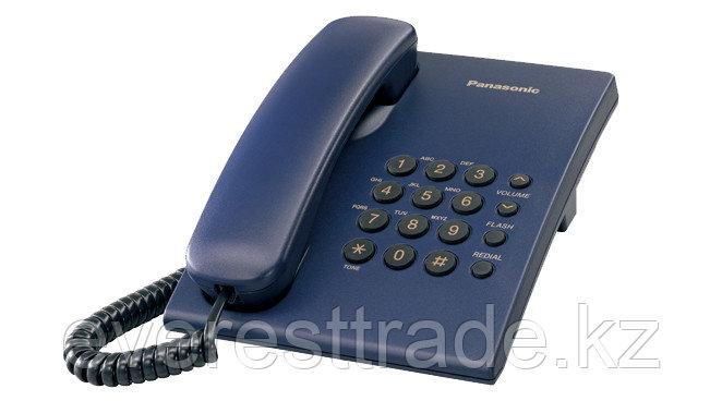 Телефон проводной Panasonic KX-TS2350 синий, фото 2