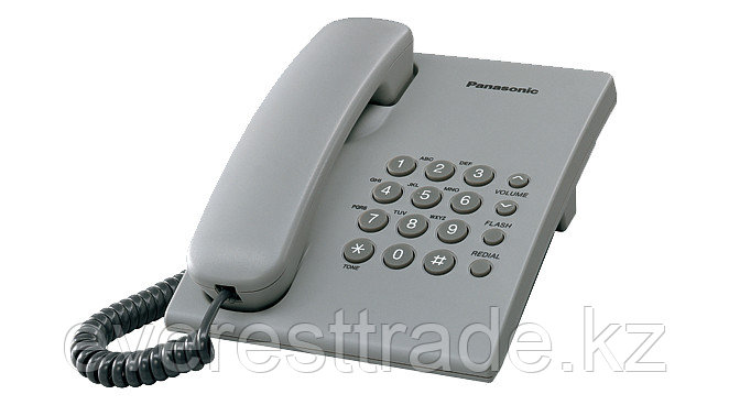Телефон проводной Panasonic KX-TS2350 серый, фото 2