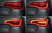 Задние рестайлинговые фонари на Audi Q7 2007-15