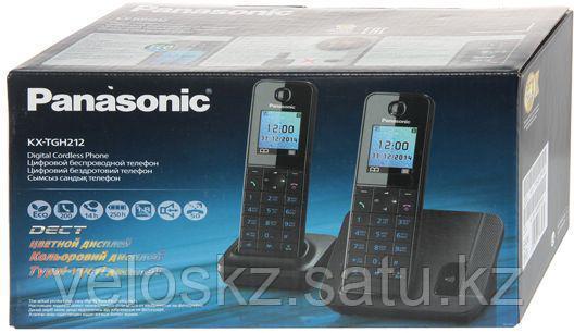 Телефон беспроводной Panasonic KX-TGH212UAB Black/White, фото 2