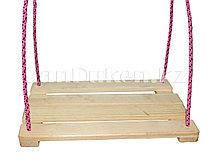 Детские подвесные качели деревянные