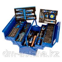 Металлический инструментальный ящик с набором инструментов 67 предметов