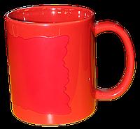 """Кружка керамика красный хамелеон """"красный флаг"""""""