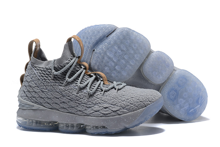 """Баскетбольные кроссовки Nike LeBron XV (15) """"Grey/Ice"""" (40-46)"""