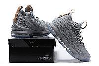 """Баскетбольные кроссовки Nike LeBron XV (15) """"Grey/Ice"""" (40-46), фото 6"""