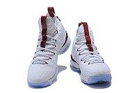 """Баскетбольные кроссовки Nike LeBron XV (15) """"White/Burgundy"""" (40-46), фото 2"""