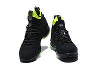 """Баскетбольные кроссовки Nike LeBron XV (15) """"Black/Volt"""" (40-46), фото 2"""