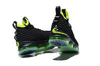 """Баскетбольные кроссовки Nike LeBron XV (15) """"Black/Volt"""" (40-46), фото 3"""
