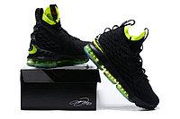 """Баскетбольные кроссовки Nike LeBron XV (15) """"Black/Volt"""" (40-46), фото 4"""