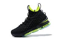 """Баскетбольные кроссовки Nike LeBron XV (15) """"Black/Volt"""" (40-46), фото 5"""