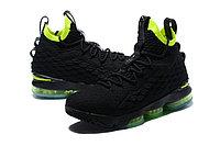 """Баскетбольные кроссовки Nike LeBron XV (15) """"Black/Volt"""" (40-46), фото 6"""
