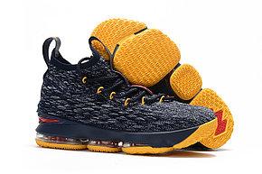 "Баскетбольные кроссовки Nikе LeBron XV (15) ""Black/Yellow/Red"" (40-46)"