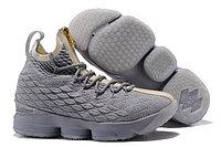 """Баскетбольные кроссовки Nike LeBron XV (15) """"Pure Platinum"""" Zipper (40-46)"""