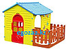 Игровой домик Mochtoys с забором 10839