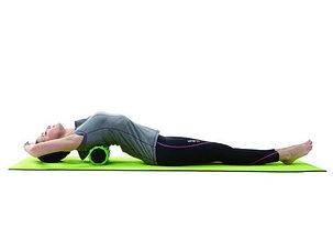 Валик, ролик массажный для спины и йоги 33см, фото 2