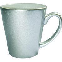 Кружка керамическая латте серебро