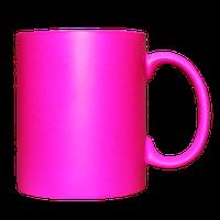 Кружка керамическая неон (пурпурная)